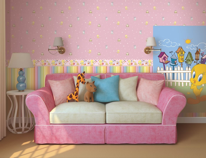 Carte da parati per bambini fantasyland immagini for Parati tridimensionali