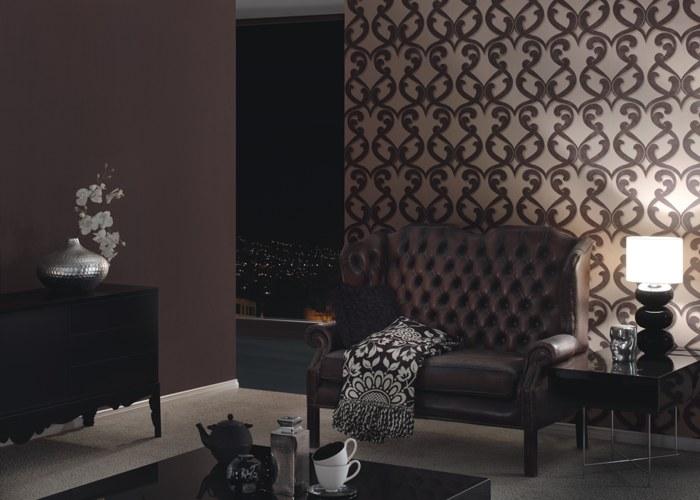 Romantische Tapeten Belle Rose : Romantische Tapeten ? Flock III ? Raumbilder ? Kaffeehaus