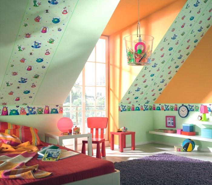 Leuchtende Kindertapeten : Kindertapeten ? Kids Club ? Raumbilder ? Flusi, das Sockenmonster