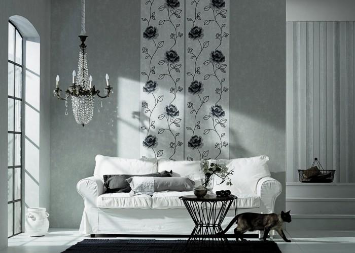 papiers peints de romantique scandinavian vintage images de chambres charme des roses. Black Bedroom Furniture Sets. Home Design Ideas