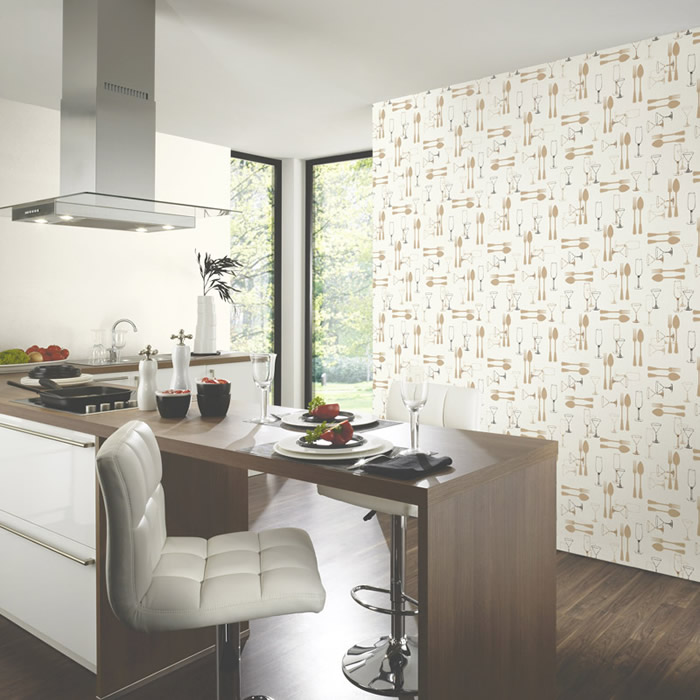 Carte da parati naturali vita immagini tridimensionali cucina wallpaper photo murals - Carta da parati cucina ...