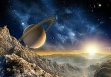 photo mural no. 4020 - Saturn Moon