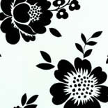 Belle Rose no. 315 - furnishing fabric Flowers black & white