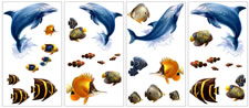 wallsticker no. 225 - tropical fish