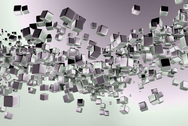 Fototapete Nr. 3874 - Titanium Cubes