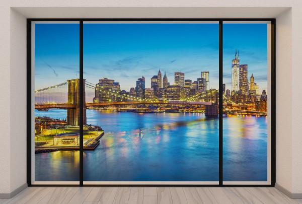 Fototapete Nr. 2978 - Penthouse Golden Brooklyn Bridge