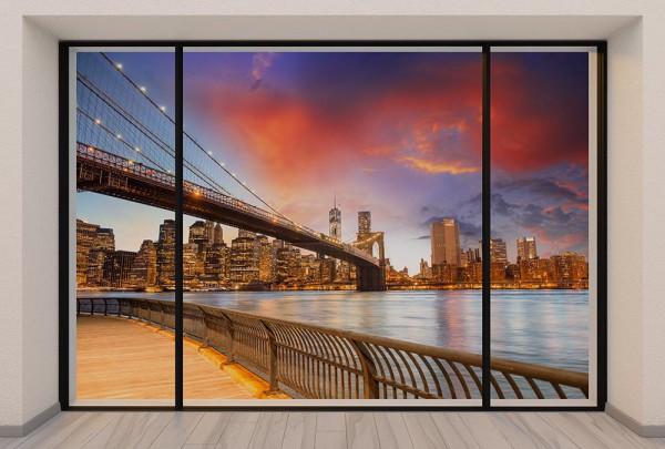 Fototapete Nr. 2967 - Penthouse Brooklyn Bridge Glow