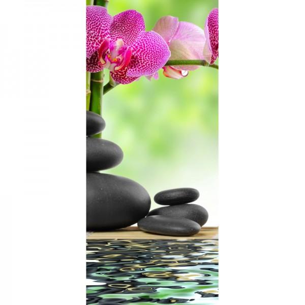 Türtapete Nr. 3950 - Zen & Orchidee