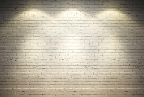 Fototapete Nr. 3312 - Klinker weiß gestrichen und beleuchtet
