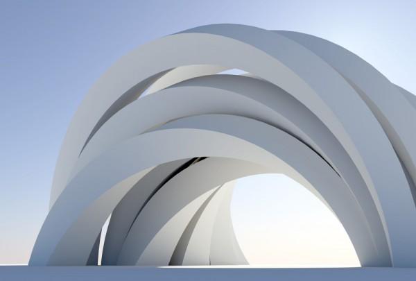 Fototapete Nr. 3700 - Concrete arches