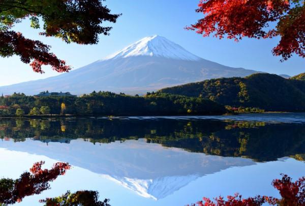 Fototapete Nr. 3536 - Mt. Fuji mit Lake Kawaguchi