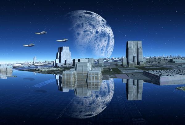Fototapete Nr. 3132 - Alien city