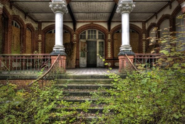 Fototapete Nr. 3828 - Villa Antique - Außentreppe