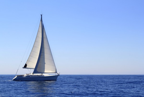 Fototapete Nr. 3703 - Blue water sailing