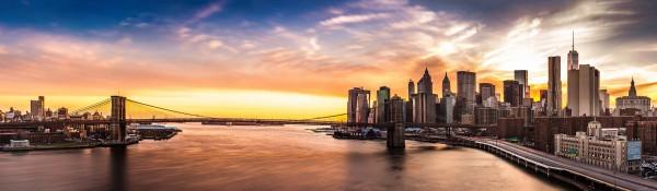 Panoramatapete Nr. 3104 - Manhattan Sunset