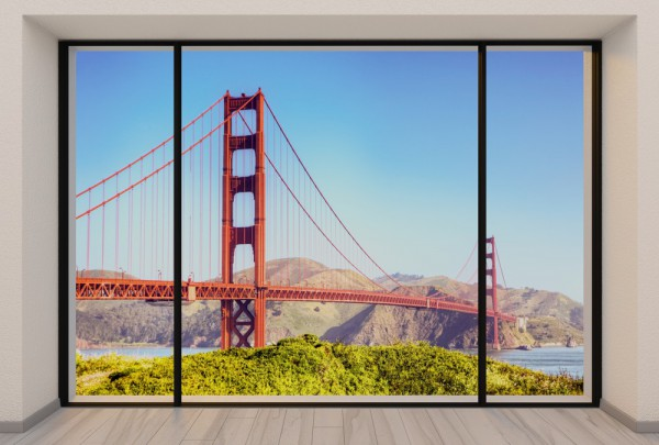 Fototapete Nr. 3735 - Penthouse Golden Gate Bridge