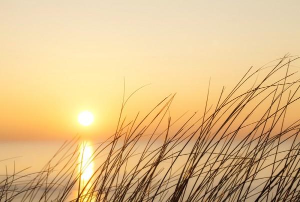 Fototapete Nr. 3287 - Sonnenuntergang über den Dünen
