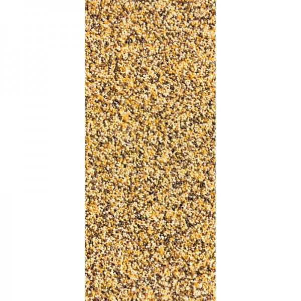 Türtapete Nr. 3274 - Buntsteinputz gelb-braun