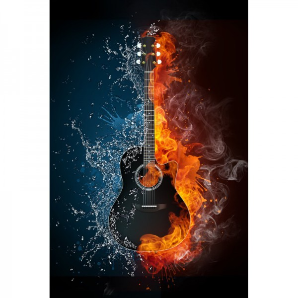 Fototapete Nr. 3522 - Burning guitar
