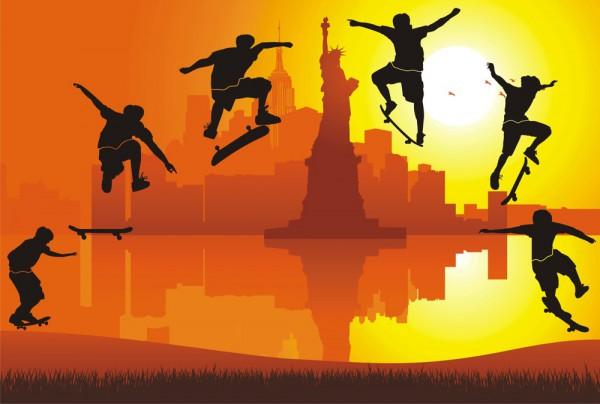 Fototapete Nr. 3823 - New York Skating