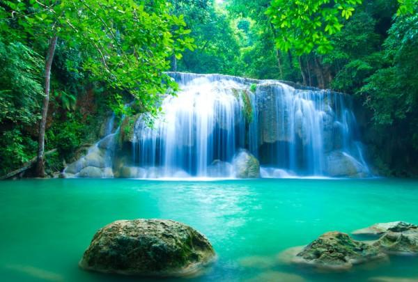 Fototapete Nr. 3205 - Erawan waterfall, Thailand