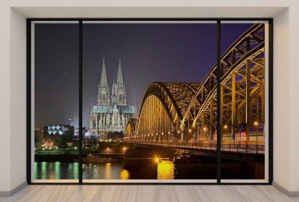 Fototapete Nr. 3728 - Penthouse Köln bei Nacht