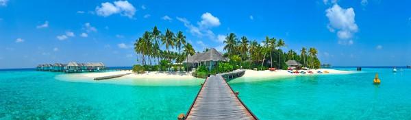 Panoramatapete Nr. 3566 - Maldive Island