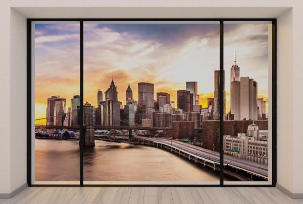 Fototapete Nr. 2968 - Penthouse Manhattan Sunset