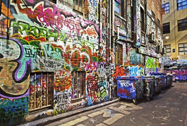 Fototapete Nr. 3489 - Graffiti Backstreet