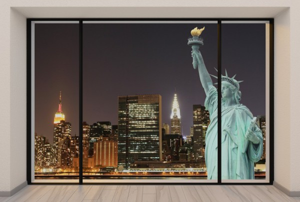 Fototapete Nr. 3717 - Penthouse Statue of Liberty