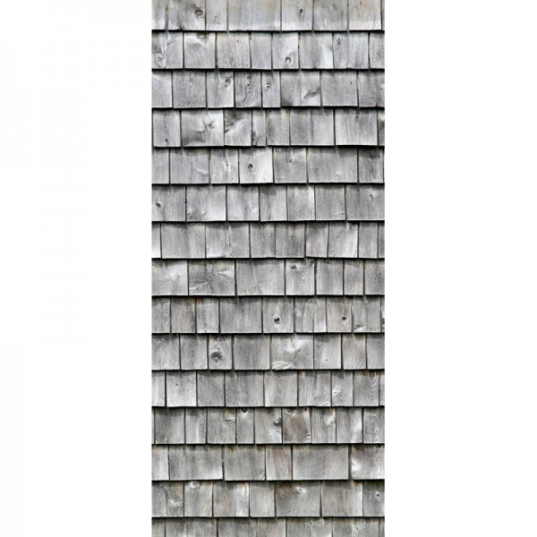Türtapete Nr. 3810b - Holzschindelwand