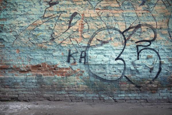 Fototapete Nr. 3490 - Graffiti Historisches Mauerwerk