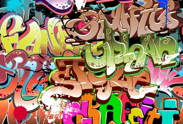 Fototapete Nr. 3495 - Graffiti Splash
