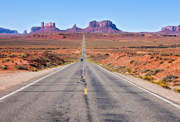 Fototapete Nr. 3231 - The road to Monument Valley