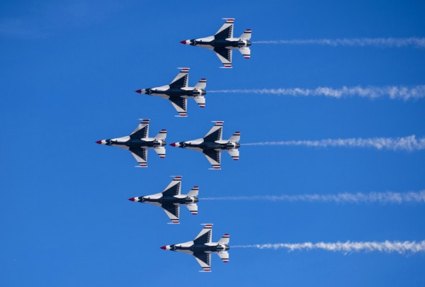 Fototapete Nr. 3262 - Las Vegas air show Thunderbird F 16