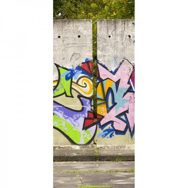 Türtapete Nr. 3491 - Graffiti Betonelemente