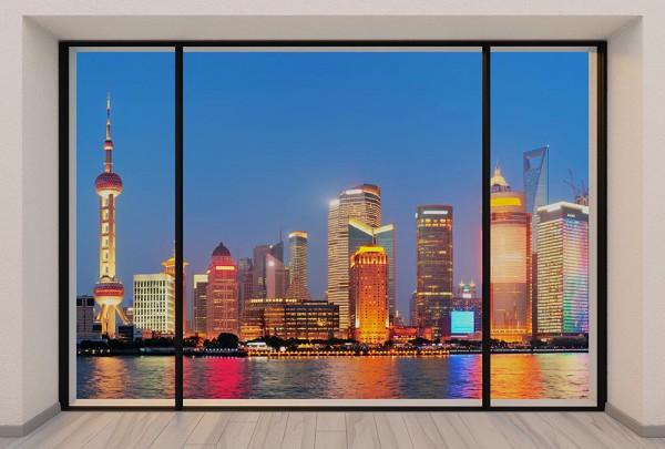 Fototapete Nr. 2988 - Penthouse Shanghai Skyline