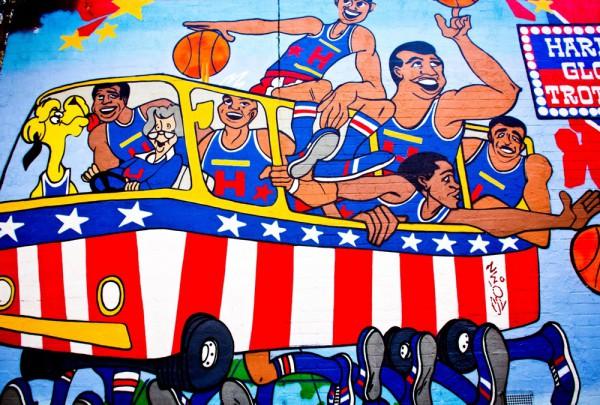 Fototapete Nr. 3482 - Graffiti Harlem Globe Trotters