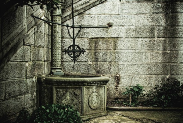 Fototapete Nr. 3921 - Villa Antique - Hofbrunnen
