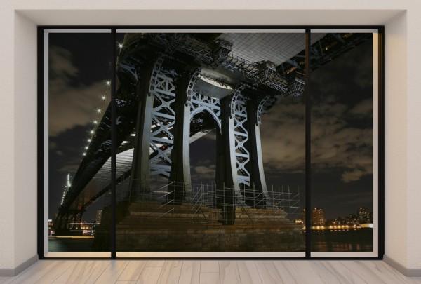 Fototapete Nr. 3725 - Penthouse Brooklyn Bridge inside