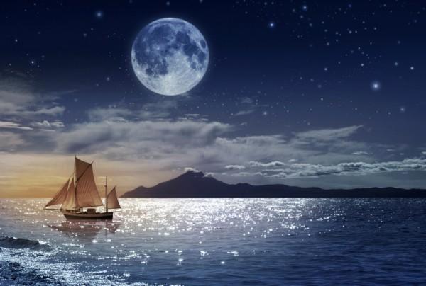 Fototapete Nr. 4433 - Moonlight Sailing
