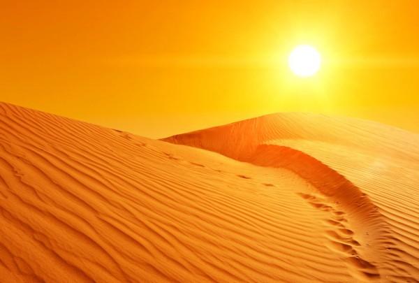 Fototapete Nr. 3397 - Desert sunset