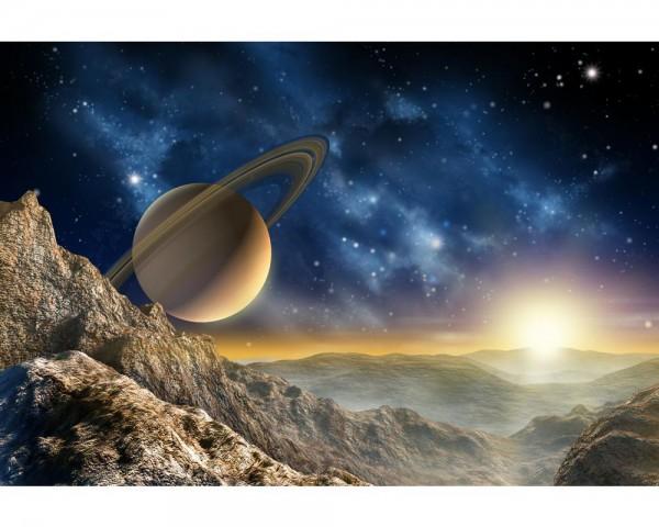 Fototapete Nr. 4020 - Saturn Moon