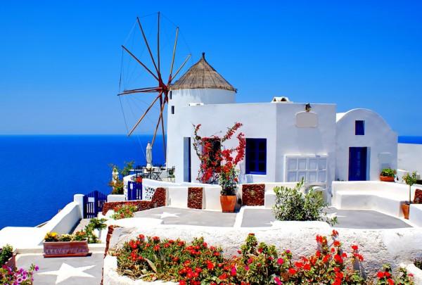 Fototapete Nr. 3687 - Santorini windmill