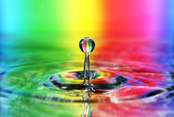 Fototapete Nr. 3698 - Rainbow drop