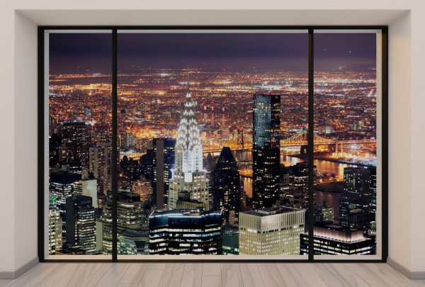 Fototapete Nr. 3718 - Penthouse N.Y.C. Night over Manhattan