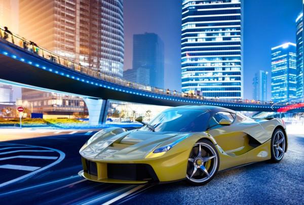 Fototapete Nr. 3553 - Super Car yellow