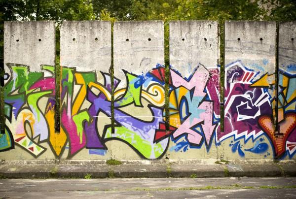 Fototapete Nr. 3491 - Graffiti Betonelemente