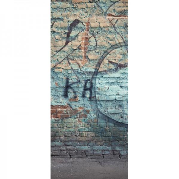 Türtapete Nr. 3490 - Graffiti Historisches Mauerwerk