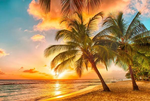 Fototapete Nr. 3022 - Abendsonne auf Hawaii